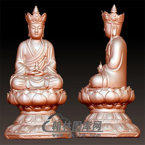 唐僧打坐立体圆雕图(YGD-039)