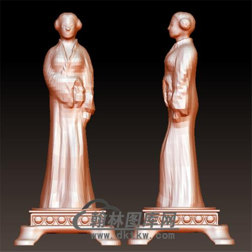 陶俑人像立体圆雕图(YGD-041)