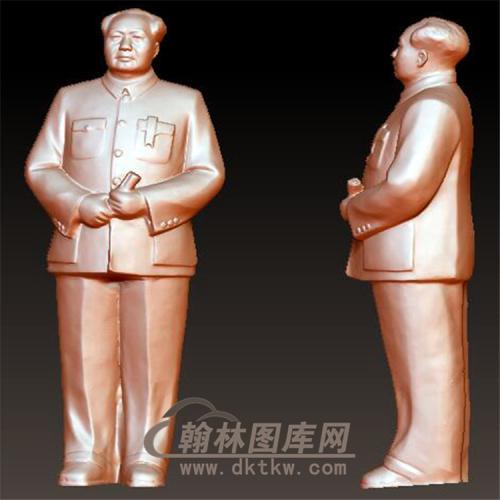 毛主席立体圆雕图(YXD-022)