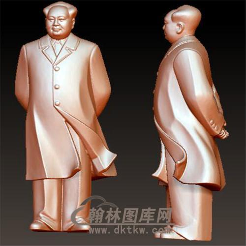 毛主席立体圆雕图(YXD-023)
