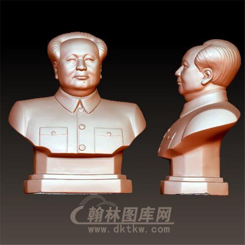 毛主席立体圆雕图(YXD-024)