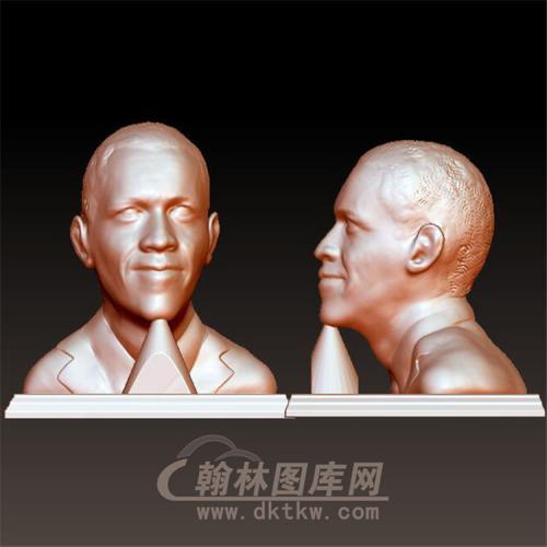 美国总统奥巴马立体圆雕图(YXD-028)