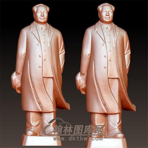 毛主席立体圆雕图(YXD-031)