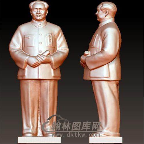 毛主席立体圆雕图(YXD-033)