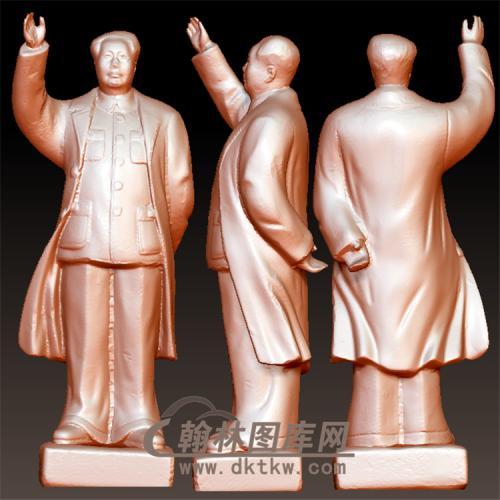 毛主席站立体圆雕图(YXD-062)