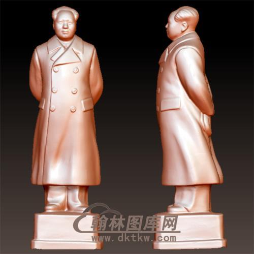 毛泽东伟人像立体圆雕图(YXD-064)