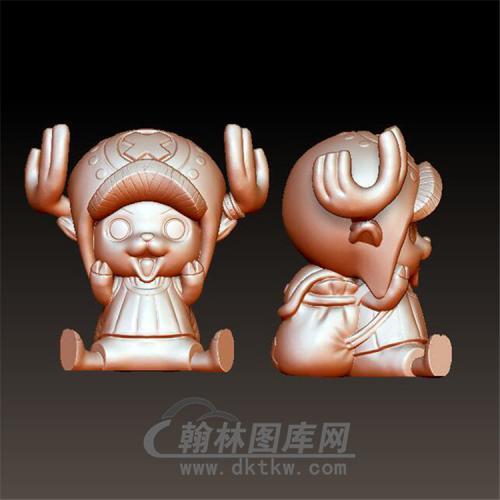 海贼王乔巴老人圆雕图(YKT-11)