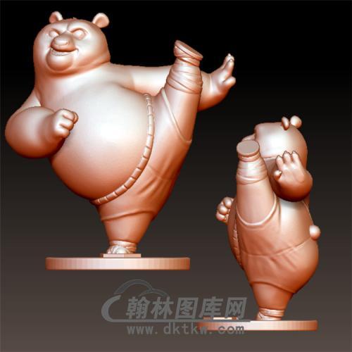 功夫熊猫立体圆雕图(YKT-16)