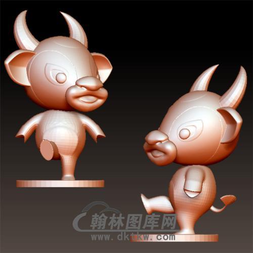 卡通牛牛立体圆雕图(YKT-18)