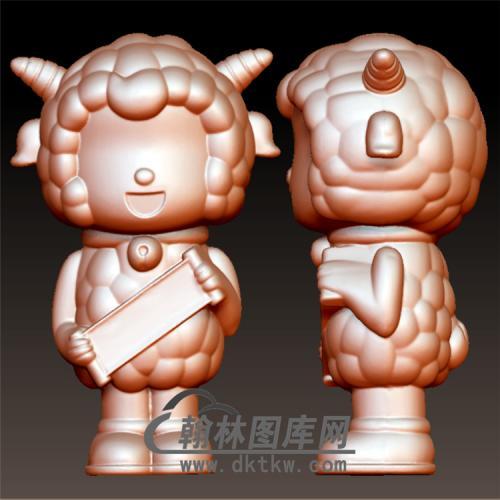 喜羊羊立体圆雕图(YKT-22)