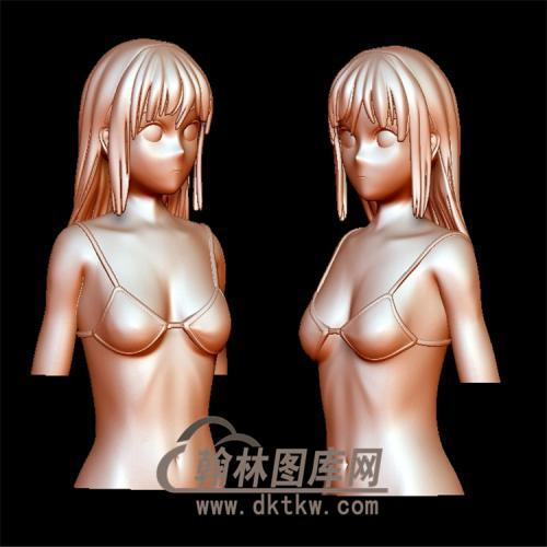 花样女孩立体圆雕图(YSN-2)
