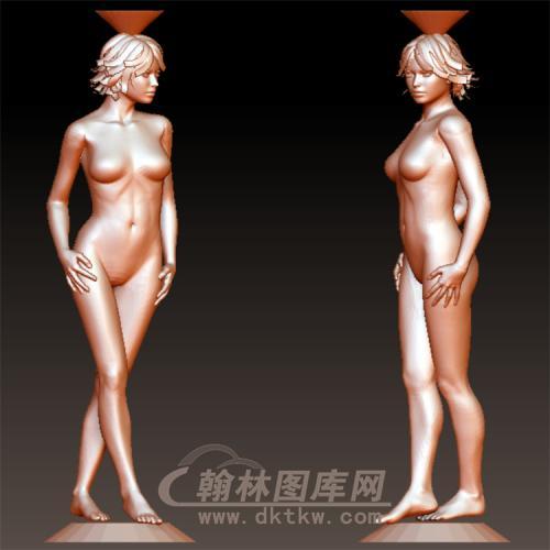 光身美女立体圆雕图(YSN-7)