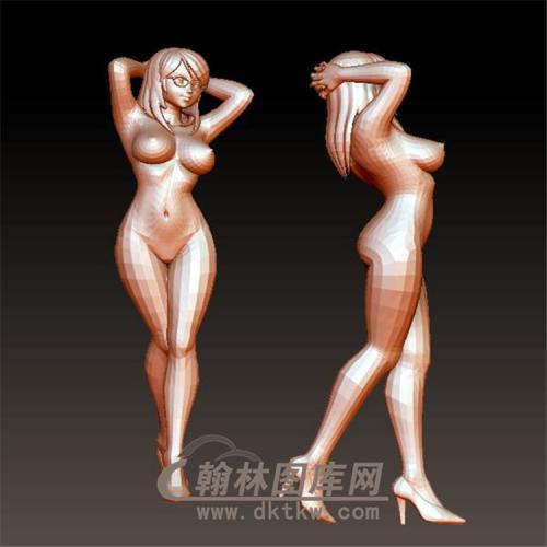 裸女立体圆雕图(YSN-8)