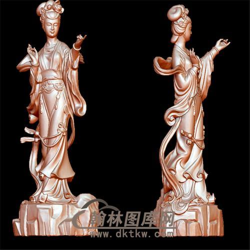 翩翩仙女立体圆雕图(YSN-10)