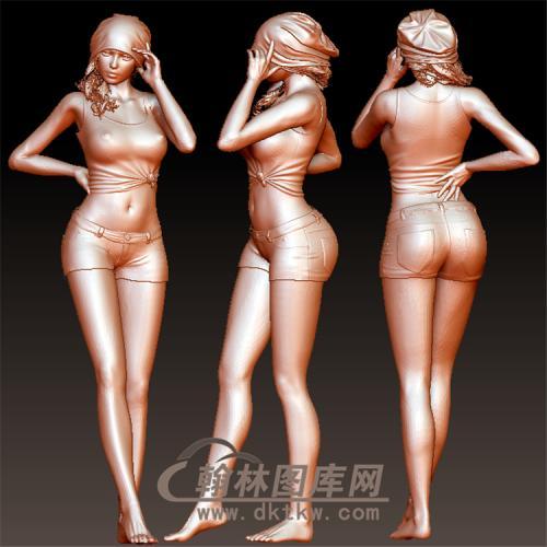 美女模特立体圆雕图(YSN-17)