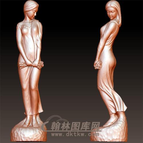 女人像立体圆雕图(YSN-20)