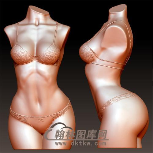 女身像立体圆雕图(YSN-21)