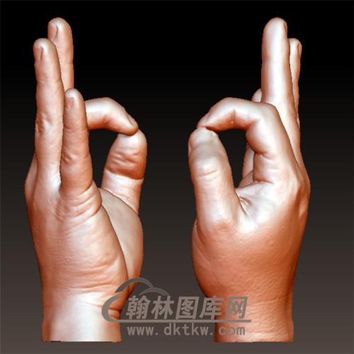 OK手立体圆雕图(YS-4)