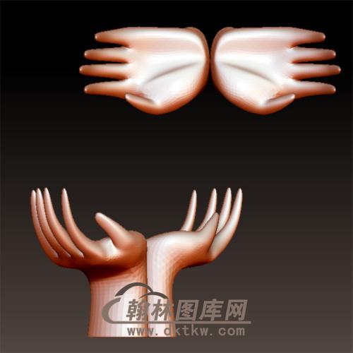 合掌双手立体圆雕图(YS-6)
