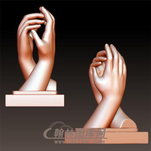 合握手立体圆雕图(YS-7)