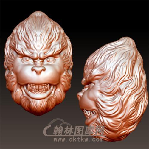 大圣狰狞像立体圆雕图(YWK-9)