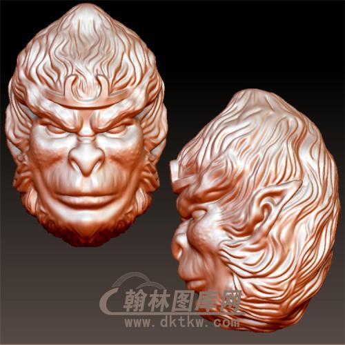孙悟空猴头立体圆雕图(YWK-11)