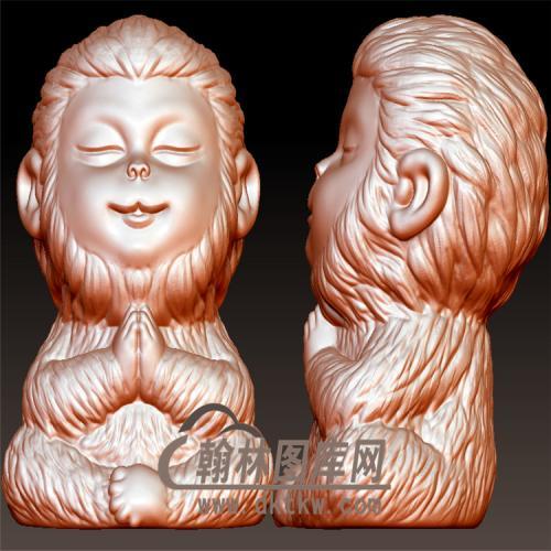 灵猴孙悟空立体圆雕图(YWK-13)