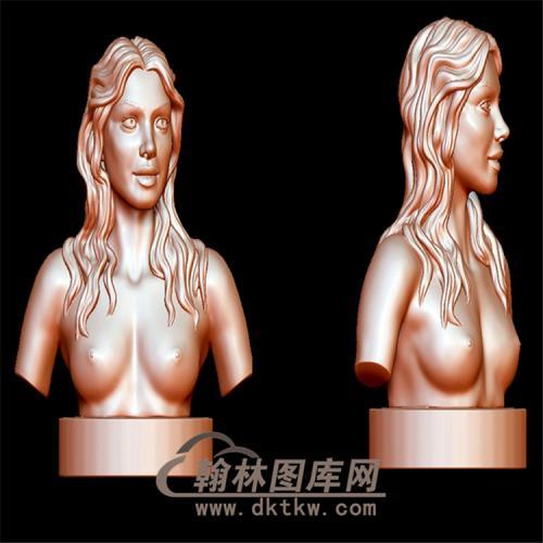 长发美女立体圆雕图(YXF-037)