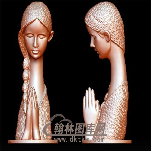 美女雕塑立体圆雕图(YXF-092)