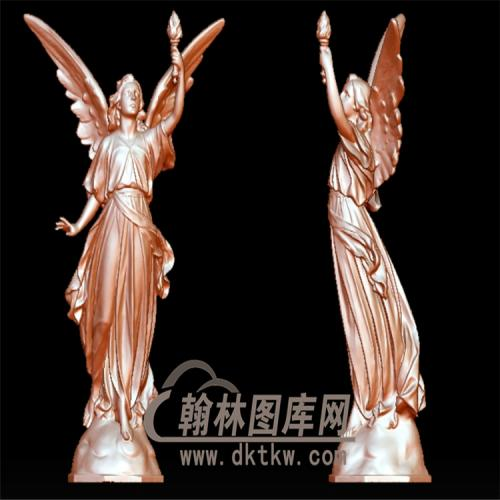 西方女天使立体圆雕图(YXF-097)