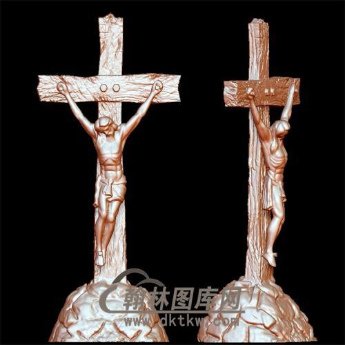 耶稣十字架立体圆雕图(YXF-188)