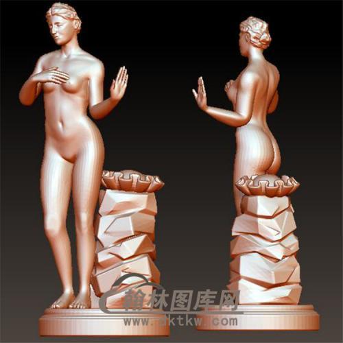 裸女美女立体圆雕图(YXF-190)
