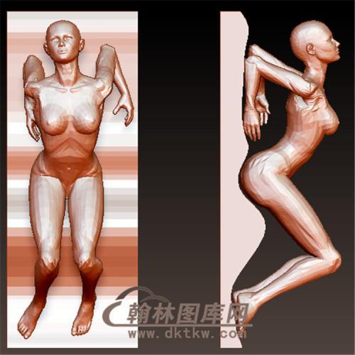 雕塑瑜伽立体圆雕图(YXF-197)