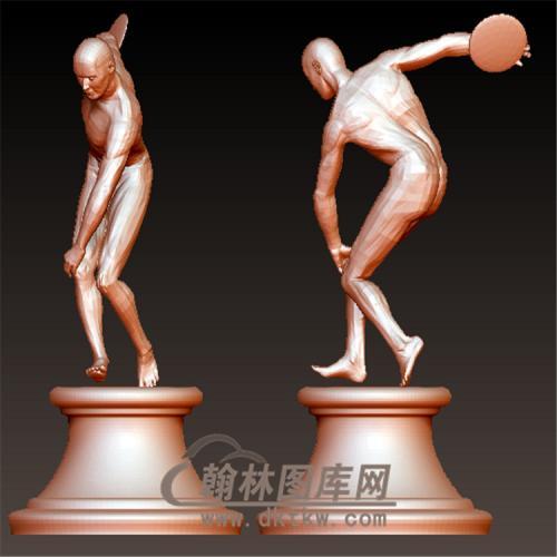 雕塑铁饼立体圆雕图(YXF-194)
