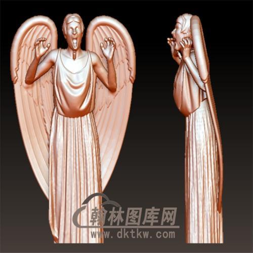 恶魔天使立体圆雕图(YXF-198)