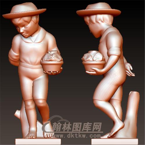 西方儿童立体圆雕图(YXF-199)