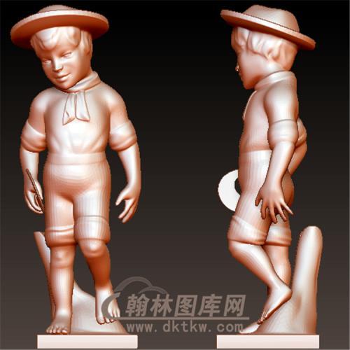 西方儿童立体圆雕图(YXF-200)