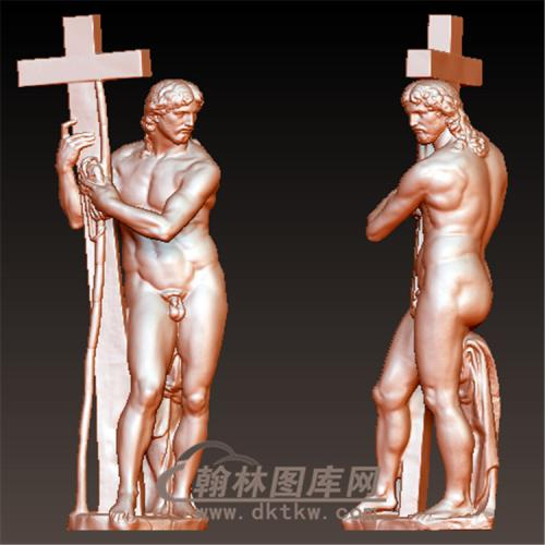 复活的基督耶稣十字架立体圆雕图(YXF-201)