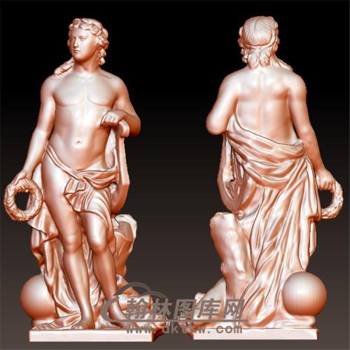 古希腊罗马雕塑美男子立体圆雕图(YXF-202)