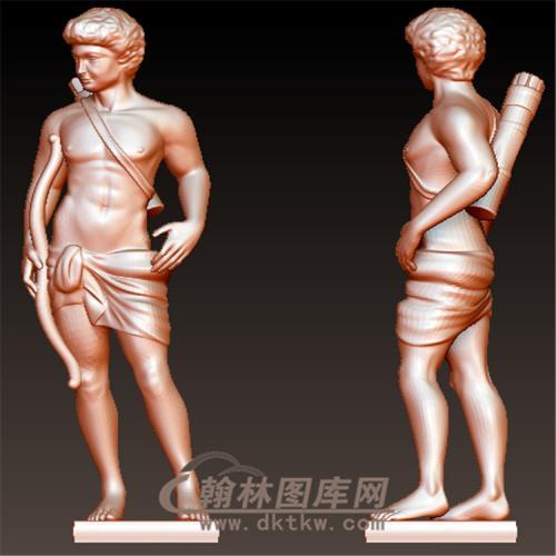 罗马人雕塑立体圆雕图(YXF-206)