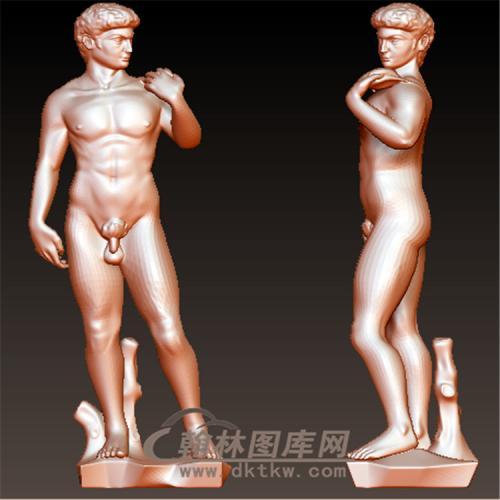 罗马风格人雕塑立体圆雕图(YXF-208)