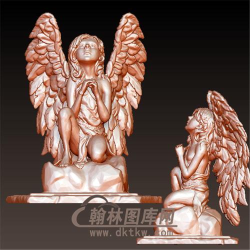 祈祷小天使立体圆雕图(YXF-212)