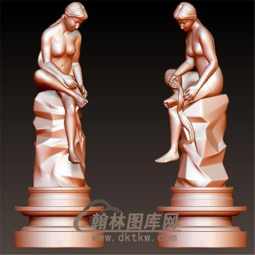 西方雕塑人物立体圆雕图(YXF-216)