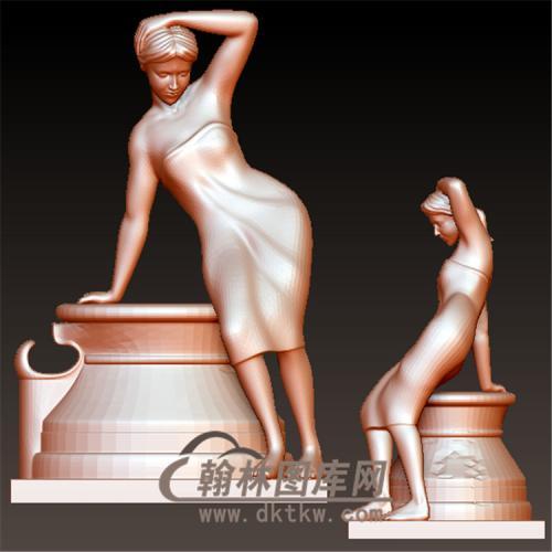 西方雕塑立体圆雕图(YXF-219)