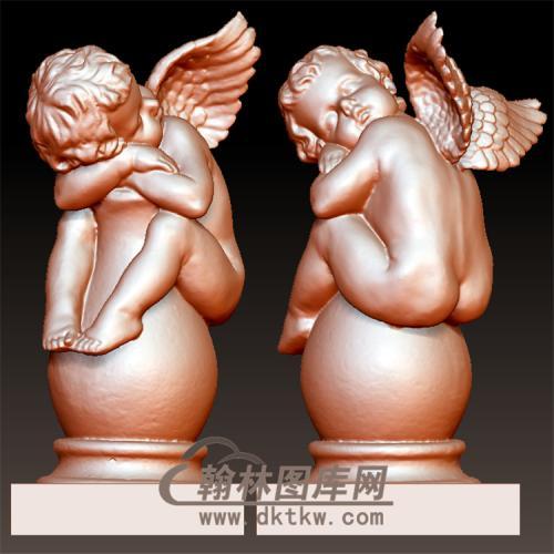 小天使孩子雕塑摆件立体圆雕图(YXF-223)
