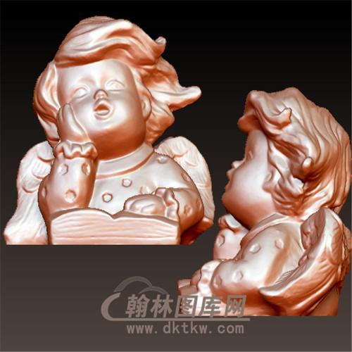 小天使丘比特立体圆雕图(YXF-224)