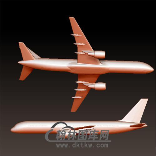 波音757客机立体圆雕图(FJ-001)