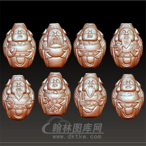 cs-002锦衣招财核雕财神立体圆雕图