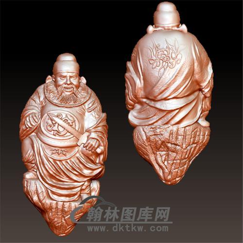 钟馗核雕立体圆雕图(ZK-003)