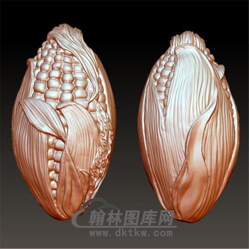 核雕玉米立体圆雕图(ZH-005)